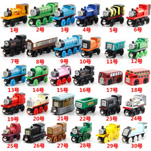 10pcs/set Wooden Vehicles Thomas and His Friends Trains Model Toy Magnetic Thomas Train Great Kids Christmas Toys Gifts for Kids(China)