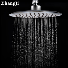 Quality 20cm Big Rainfall Shower Head Stainless Steel And Silica Gel Holes Bathroom Shower Head Water Saving Spray Nozzle ZJ030(China)
