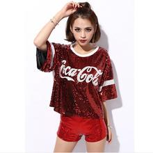 New Trend Club Ds Dance Clothes Sequins Shorts Pole Dancing Hip-hop Modern Jazz Stage  Pink Shorts Plus Size Sexy Shorts Women