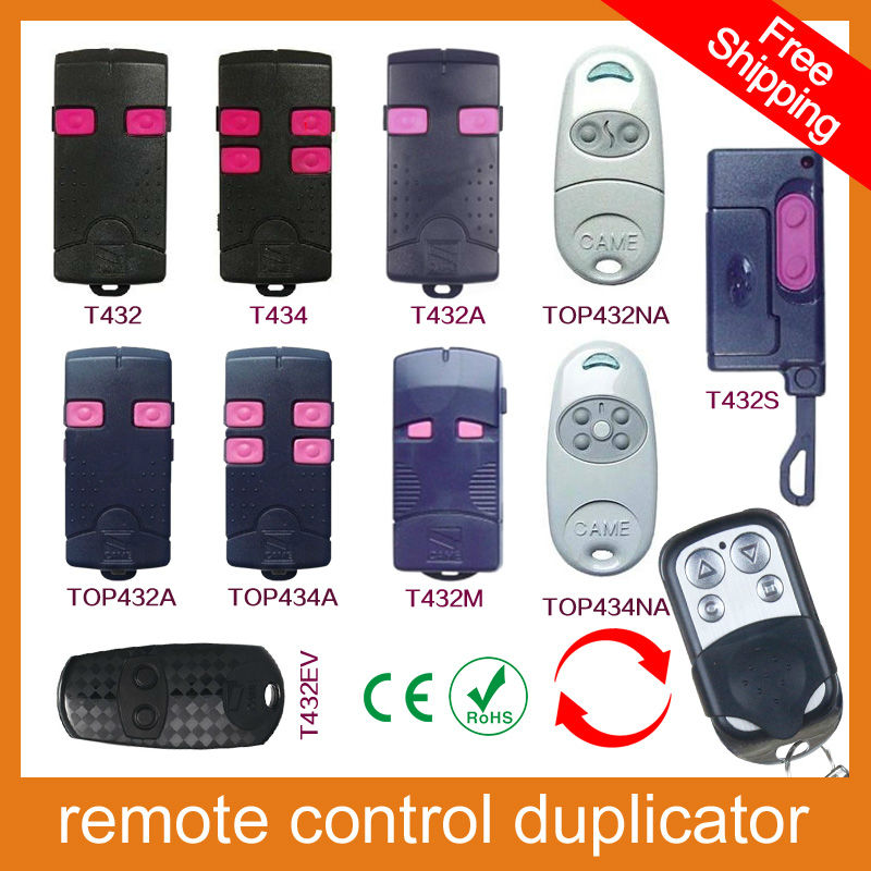 100% copy fixed code Universal RF Remote Control Duplicator for Garage Door (include CAME remotes) CAME TOP432NA/TOP434NA/T432M(China (Mainland))