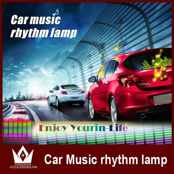 Guang Dian Sound Music Rhythm Activated El LED Equalizer Car Sticker Glow Flash Panel Multi Design LED Light cool 70CM X 16CM<br><br>Aliexpress