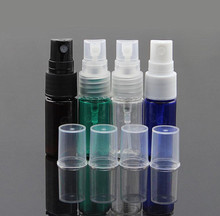 Hot Sale New Small Spray Bottles Multiple Colour 50Pcs/Bag 10ml Empty Perfume Cosmetic PET Atomizers Make Up Skin Toner Bottle