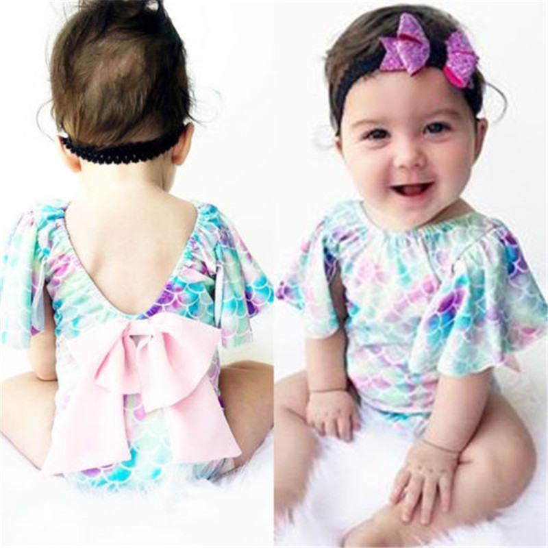 Be A Mermaid Baby Rompers One Piece Jumpsuits Summer Outfits Clothes White Baby Boys