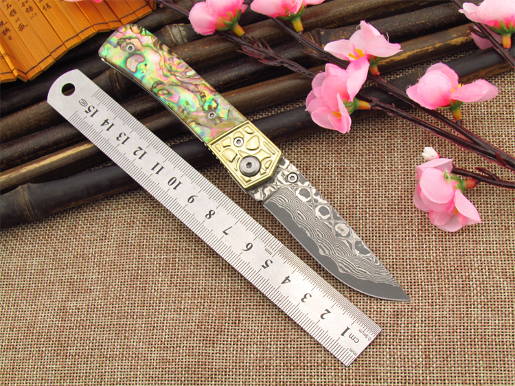 DM-007 Damascus knives outdoor knife Multifunctional tool knife folding knife with 440 c Damascus steel<br><br>Aliexpress