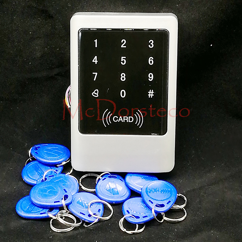 Touch Keyapd&amp;Metal case 125KHZ RFID +password IP65 waterproof access control system/ free send 10pcs User key Card<br>