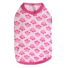Hot Styles Lovely Pet Puppy Print Shirt Small Cat Dog Vest Floral Solid Pink-bordered Dog Clothes Christmas Life Vest Jacket