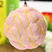 1 Pcs Phone Starps Cute Cell Phone Charms Chain Soft Cream Bread Bag Key Straps Hand Pillow Hot Sale Decoration Simulation(China)