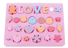 NEW Love Hearts Shape Silicone Tools Chocolate Ice Mold Cake Decoration Jelly Pudding Kitchen Cooking Mould Bakeware(China)