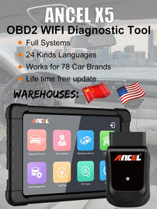 ANCEL Diagnostic-Tool Automotive-Scanner SRS DPF OBD2 WIFI Full-Systems X5 Free-Update