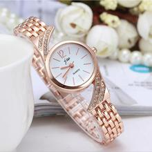 50pcs/lot JW-3458 Fashion Rose Gold Charm Thin Gap strips Women  Bracelet Elegant Bangle Wrist Watch Girl
