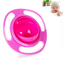 2018 Hot New Creative Gyroscope Baby Bowl Non Spill Feeding Toddler Gyro Cereal Bowl 360 Rotating Kids Avoid Food Spilling(China)