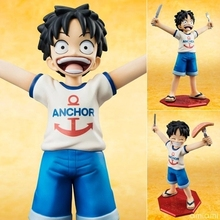Anime One Piece POP Monkey D Luffy Childhood ver.  PVC Action Figure Collectible Model Toy 10cm KT644