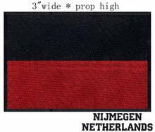 "Nijmegen, Netherlands Flag 3""wide  embroidery patch  for team/football/physical education"