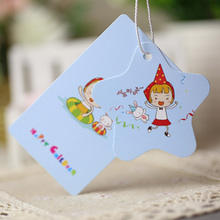 Custom Printed Children Clothing Newest Product Coated Art Paper Tag(China)