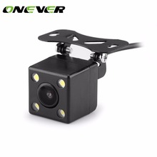 Onever 2in1 4.3 Inch Car TFT LCD Rear View Display Monitor 2 Video Car Parking Waterproof Night Vision 4-LED Rearview Camera(China)