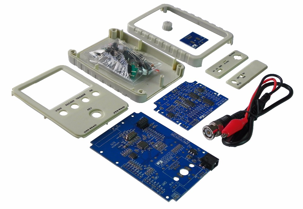 SHINA DSO Shell Oscilloscope DIY Kit,DSO138 Upgraded for e-Learning Training DIY STM32 Kit<br>