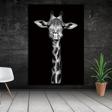 BANMU Animal Canvas Painting Nordic Black&White Wall Pictures Modular Paintings For Living Room Home Art Decoration Prints(China)