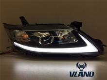 Free Shipping VLAND manufacture outlet price for 2009-2011 Camry v40 USA style LED HID modified headlight (1L+1R)Xenon Lamps(China)
