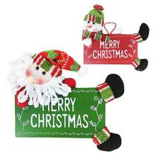 "Wooden ""Merry Christmas"" Text Wall Door Window Hanging Ornaments Christmas Decoration Supplies Home Xmas Decorative Sign 3 - Qcloud Sophie Store store"