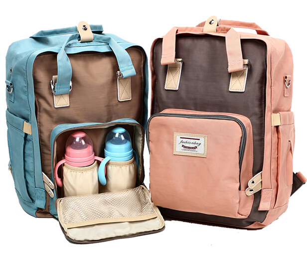 Fashion Tote Baby Bags Large Diaper Bag Organizer Nappy Bags Diaper Backpack Maternity Bag Baby Nappy Backpack Mummy Handbag<br>