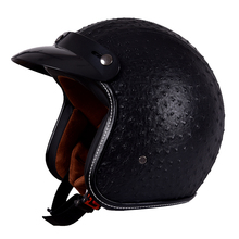 SENHU New arrival free shipping Vintage Motorcycle HALF face PU/ABS Adult Helmet for Harley motorbike with visors SH-188(China)