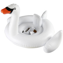 Summer Premium White Swan Baby Float Swimming Pool Accessories Ring Inflatable Seat Boat Pool Adults Baby Kids Toddler Children(China)