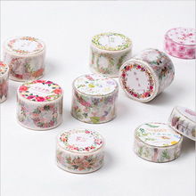12 Styles Flower Sea Series Adhesive Tapes Kawaii Scrapbooking DIY Craft Sticky Deco Masking Japanese Washi Tape Cute Stationery