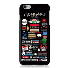 For iphone 7 6 plus hard Plastic PC Back Cover For iphone 5 5s 5c 4s SE ipod 5 6 friends tv show Painted Protect Case