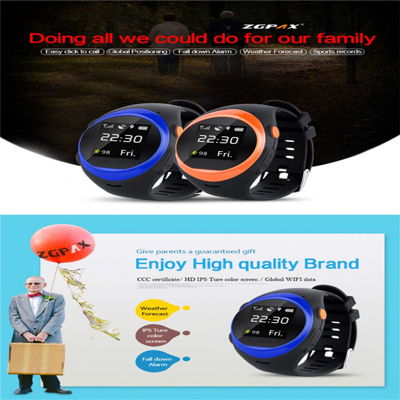 ZGPAX S888A GPS Wifi Smartwatch for Kids Elderly Safety Watch Children Security