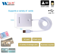 USB Smart Credit Card Reader Contact Smart Chip Card IC Cards Writer With SIM Slot For Smart Card Factory Provided(China)