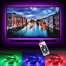 USB LED Strip 5050 RGB TV Background Lighting Kit 2X19.7'' TV with Remote Flat Screen LCD Desktop Computer LED TV Backlighting