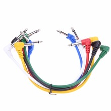 6PCS/lot Guitar Effect Pedal Patch Cable Right Angle Multicolor for Guitar Effect Pedals High Quality Guitar Part Accessories