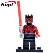 PG649 Building Blocks Super Heroes Darth Maul Special Headgear Printed Arms Shirt Star Wars Bricks Action Children Toys Gift - Minifigures store