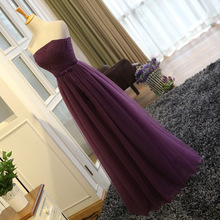 HJZY3#2016 new host long spring winter prom dress wedding gown sisters Bridesmaid Dresses wholesale cheap women's dress Purple