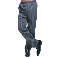 Chef Uniform Cotton Blend Elastic Waist Kitchen Pants Comfort Mens Fast Food Restaurant Chef Clothes Pro Work Hotel Trousers(China)