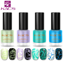 KADS New Arrival Fresh Cute Color Nail Polish Blue Nail Stamping Polish 9.5ML 4PCS Stamping Nail Polish Set