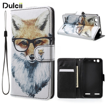 DULCII For Lenovo Vibe K5 K5plus Bag PU Leather Wallet Case with Wrist Strap for Lenovo Vibe K5 Plus Phone Case Cover Coque