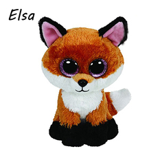 GXHMY Ty Beanie Boos Big Eyes Plush Toy Doll Fox