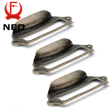 5pcs NED Antique Brass Metal Label Pull Frame Handle File Name Card Holder For Furniture Cabinet Drawer Box Case Hardware