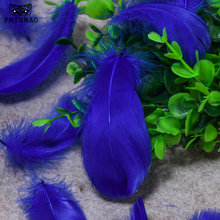 PMYUMAO 50 Pcs DIY Goose Feathers 3-6 Inches Goose Feather Plumes Feathers Goose Down Fluffy Plume For Wedding Decoration(China)