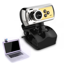 High Quality 12.0 MP HD Web Camera 3 LED USB Webcam with Mic & Night Vision for PC Laptop Blue(China)