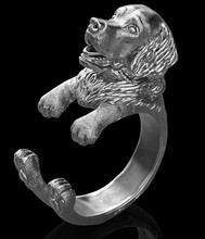 1PCS new fashion Golden Retriever Ring free size cartoon animal dog  Ring jewelry for pet lovers
