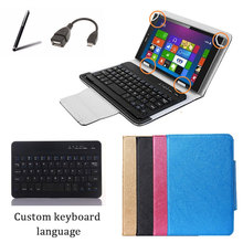 For Nexus 7 Universal Wireless Bluetooth Keyboard Case Stand Cover +Stylus Pen + OTG Cable Free Shipping