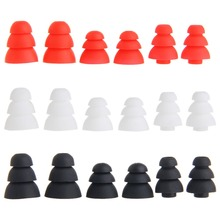 Mini 3 Pairs (S/M/L) 3-Layer Silicone In-Ear Earphone Covers Caps Replacement Earbuds
