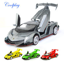 1 Pcs High quality 1:32 Mini Alloy Diecast Model car Pull Back Function with Light and Music Collections Kids Educational toy(China)