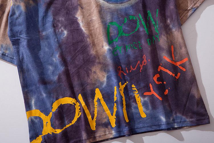 Graffiti Smile Print Tie Dye Tshirts 5
