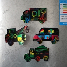 8 PCs Children transportation scrapping painting for refrigerator stickers/ Kids drawing board with magnet for educational toys(China)