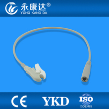 Wholesale 10pcs/lot , banana 4.0  to pinch/Clip ECG adapter cable from Chinese manufacture with CE and ISO certificates