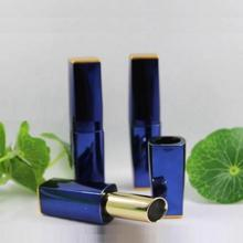New Arrival 11.1mm lip balm tubes brilliant blue stripe Empty DIY lipstick container for cosmetic packing(China)