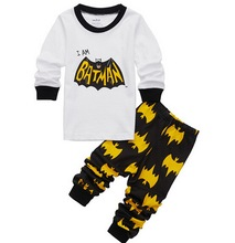 2017 Batman Pijamas Kids Pajamas Cotton Baby Boy Pyjamas Set Superman Pyjama Bebe Long Sleeve Pijama Infantil Kids Boy Clothes